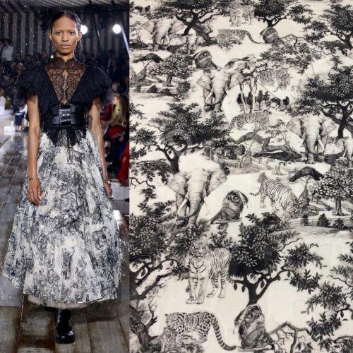 Хлопок деворе Dior осень-зима 2018/19
