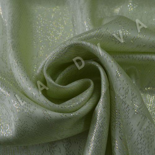 Оригинальный шелк с люрексом салатового цвета