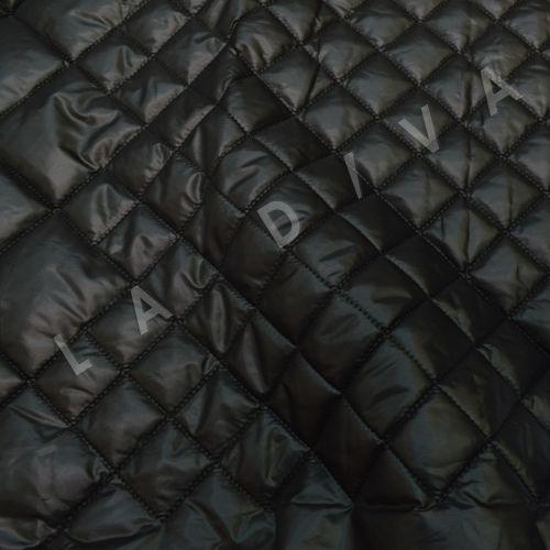 """Черная  курточная ткань """"Ромбики"""""""