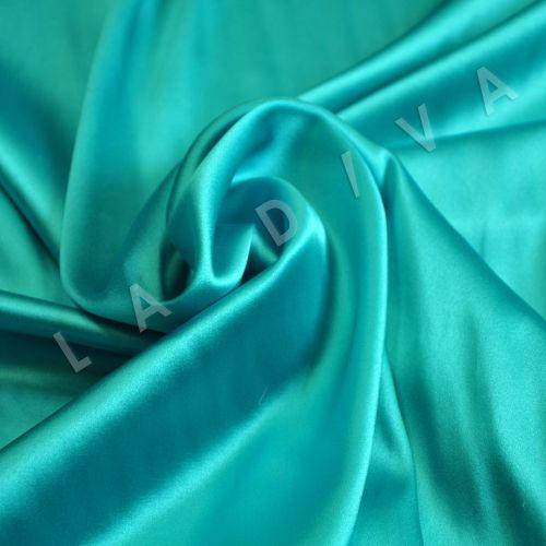 Однотонный шелк  цвета морской волны
