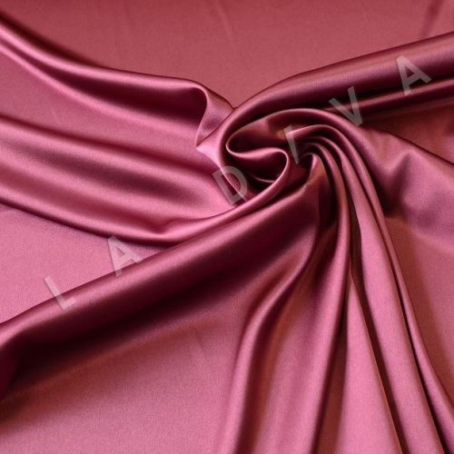 Однотонный атлас бордового цвета