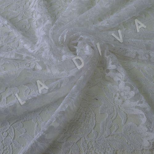 Французское кружево Solstiss белого цвета