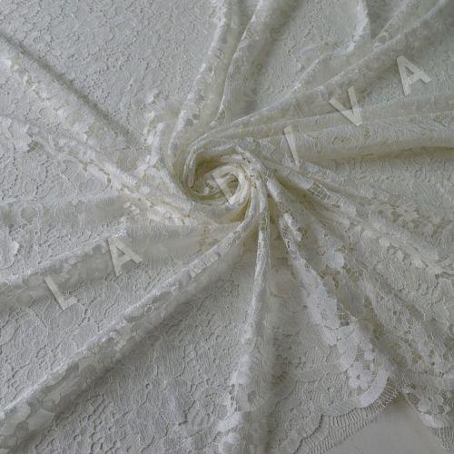 Французское кружево Solstiss молочного цвета