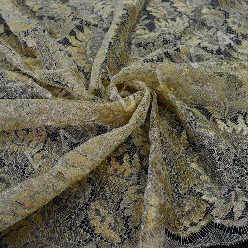 Французское кружево Solstiss золотистого цвета