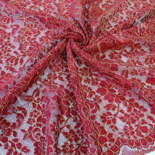 Французское кружево Solstiss бордового цвета