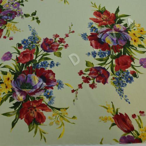 Итальянский шелк с цветочным принтом