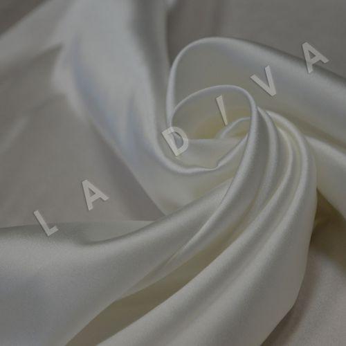 Атласный шелк белого цвета