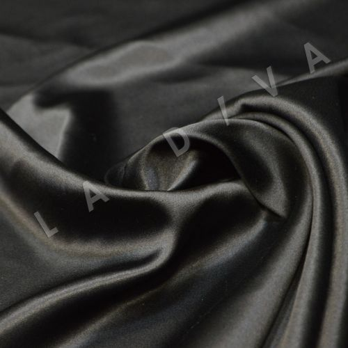 Атласный шелк черного цвета