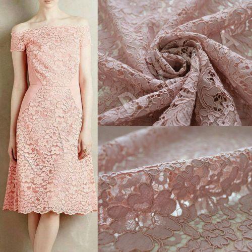 хлопковое кружево с кордовой нитью розового цвета