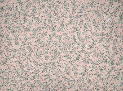 креповая вискоза с цветочным принтом на розовом рис-2
