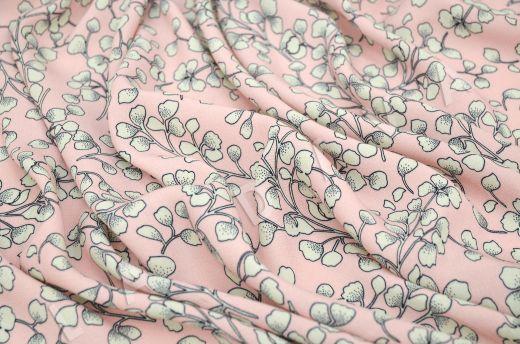 креповая вискоза с цветочным принтом на розовом рис-4
