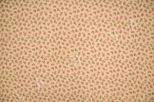 креповая вискоза с цветочным принтом на персиковом фоне рис-3