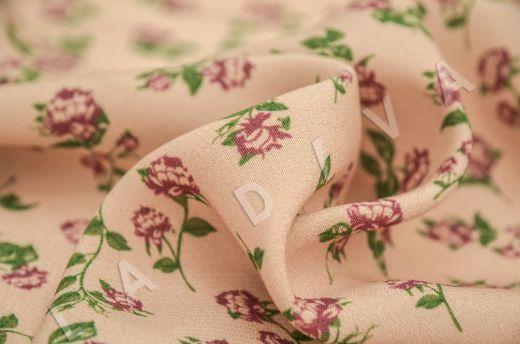 креповая вискоза с цветочным принтом на персиковом фоне рис-4