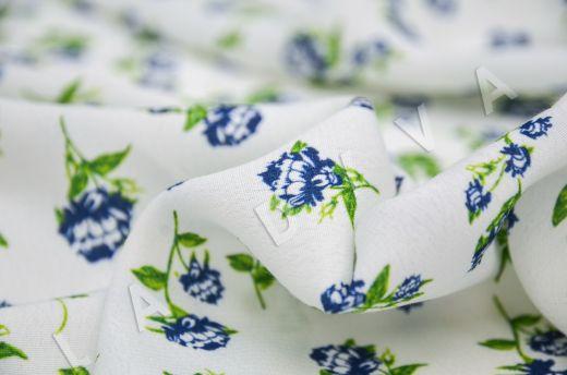 креповая вискоза с цветочным принтом на молочном фоне рис-2