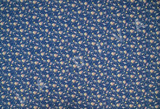 штапель вискоза с цветочным принтом на синем фоне рис-6