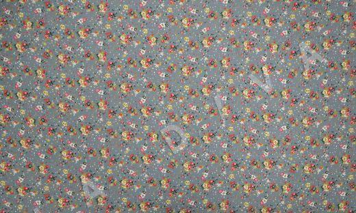 креповая вискоза с цветочным принтом на сером фоне рис-4