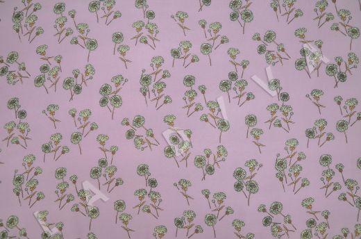 штапель вискоза с цветочным принтом на розовом фоне рис-4