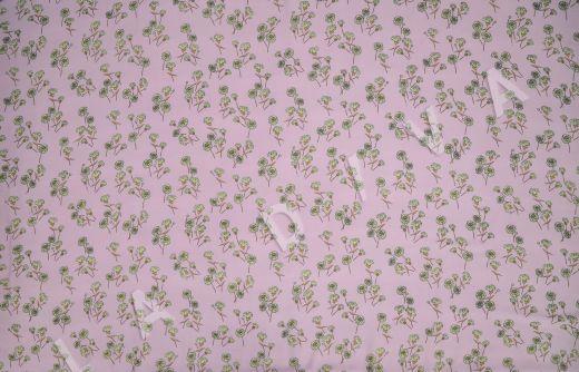 штапель вискоза с цветочным принтом на розовом фоне рис-3