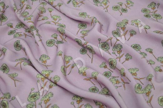 штапель вискоза с цветочным принтом на розовом фоне рис-2