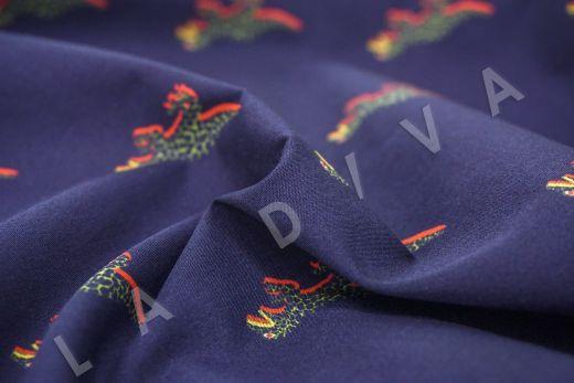 дизайнерский сорочечный хлопок «Динозавры» рис-3