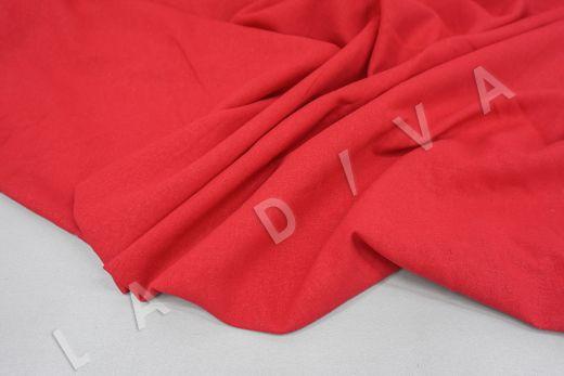 Лен с эластаном красного цвета рис-4