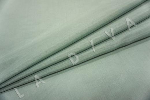 Батист шелковый фисташкового цвета рис-2