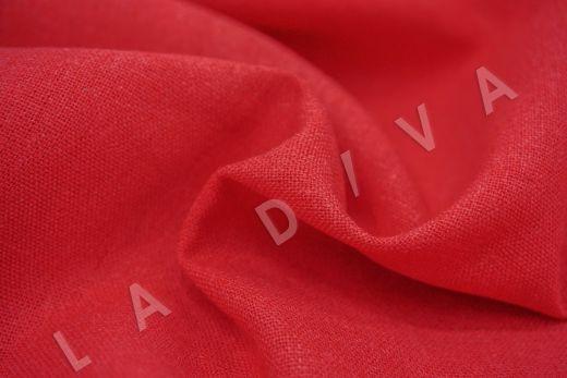 Лен с эластаном красного цвета