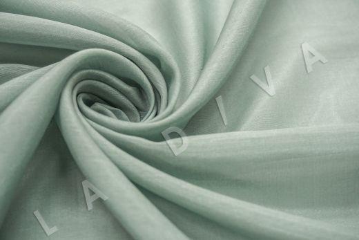 Батист шелковый фисташкового цвета рис-4