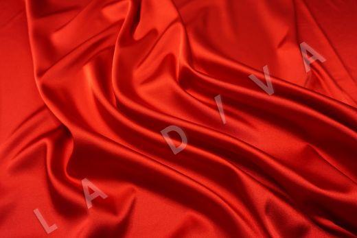 Атлас однотонный красного цвета рис-2