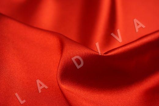 Атлас однотонный красного цвета рис-3