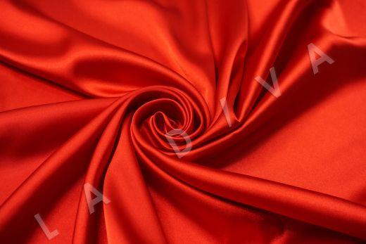 Атлас однотонный красного цвета