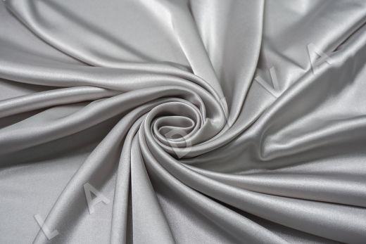 Атлас однотонный серебристого цвета рис-3