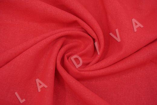 Лен с эластаном красного цвета рис-3