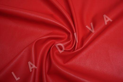 экокожа на трикотажной основе красного цвета