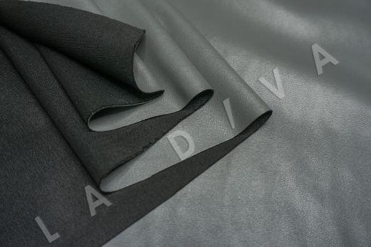 экокожа на трикотажной основе серого цвета рис-4