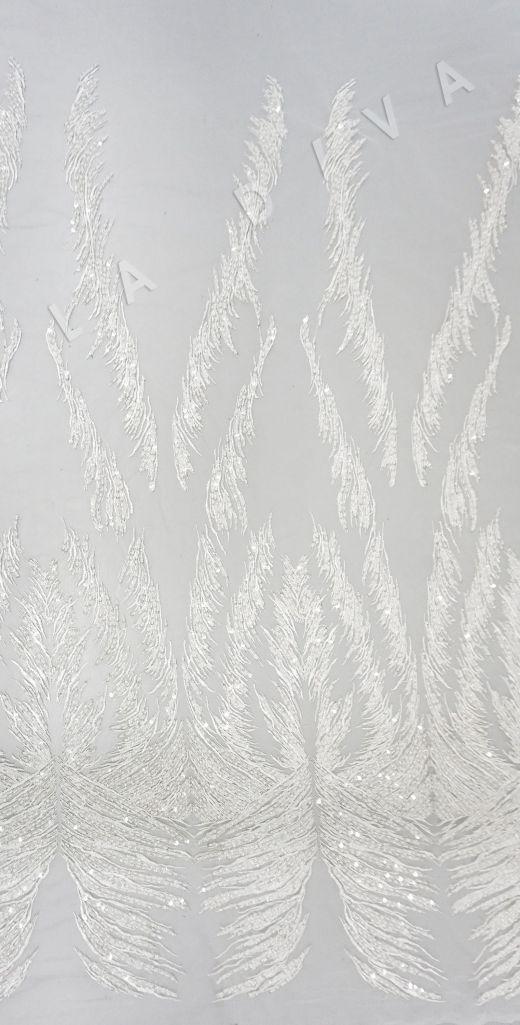 вышивка на сетке с с бисером белого цвета рис-4
