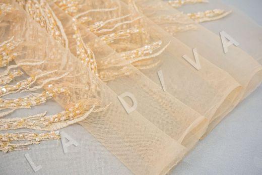 вышивка на сетке с с бисером бежевого цвета рис-4