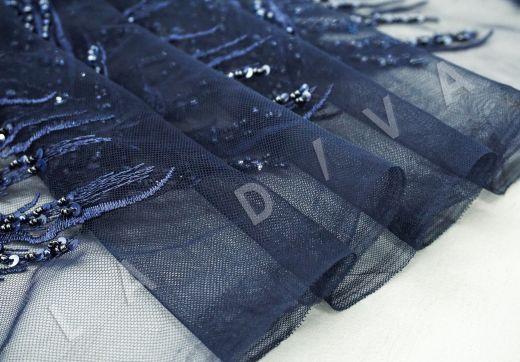 вышивка на сетке с с бисером синего цвета рис-3