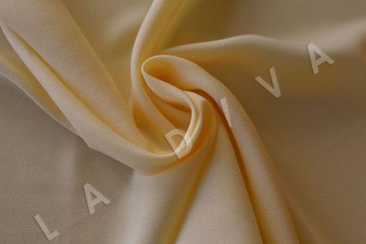 Плательно-блузочный креп светло-желтого цвета рис-2