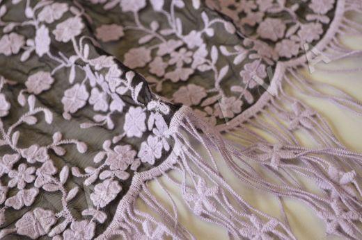 Оригинальная вышивка на шелковом креш-шифоне рис-3