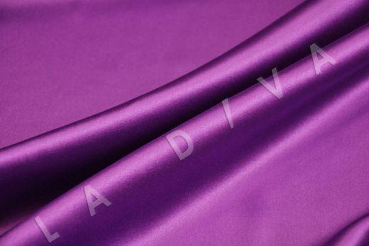 Однотонный шелк сиреневого цвета рис-3
