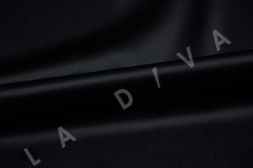 Однотонный шелк черного цвета рис-2