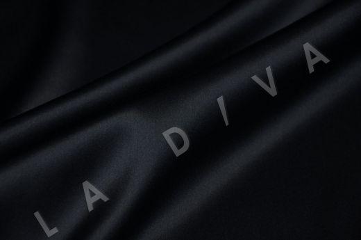 Однотонный шелк черного цвета