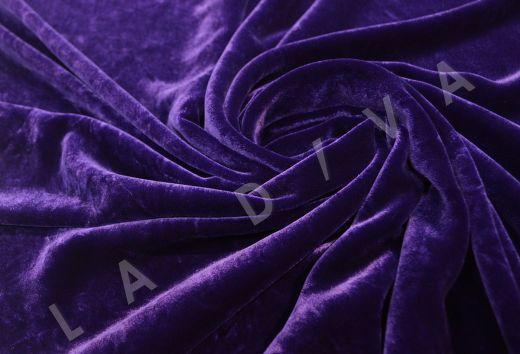 Плотный бархат фиолетового цвета рис-2
