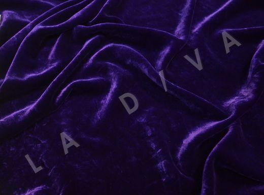 Плотный бархат фиолетового цвета рис-3