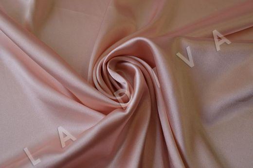 Нежно-розовый однотонный атлас