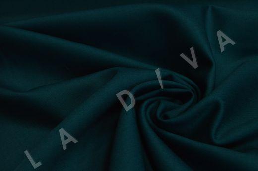 Костюмная шерсть темно-изумрудного цвета