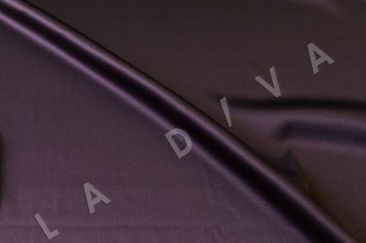 Атласный шелк темно-фиолетового цвета рис-2