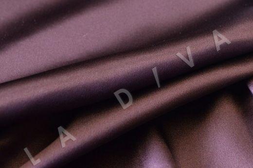 Атласный шелк темно-фиолетового цвета рис-3