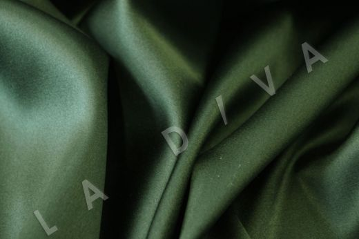 Атласный шелк зеленого цвета рис-2